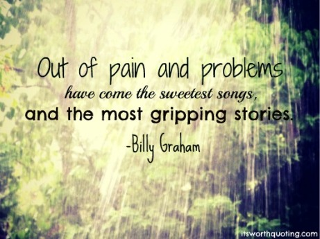 Pain quote by Billy Graham