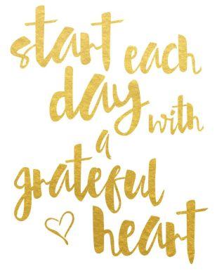 gratitude-start each day